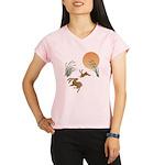 Moon, japanese pampas gras Performance Dry T-Shirt