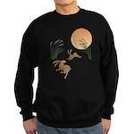 Moon, japanese pampas grass and Sweatshirt (dark)