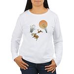 Moon, japanese pampas Women's Long Sleeve T-Shirt