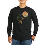 Moon, japanese pampas gra Long Sleeve Dark T-Shirt