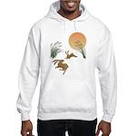 Moon, japanese pampas grass and Hooded Sweatshirt