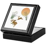 Moon, japanese pampas grass and rabbi Keepsake Box