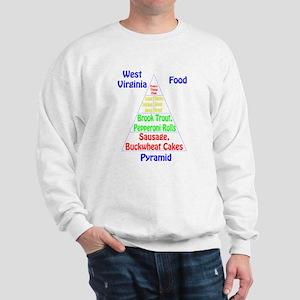 West Virginia Food Pyramid Sweatshirt