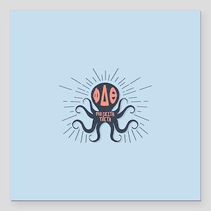 """Phi Delta Theta Octopus Square Car Magnet 3"""" x 3"""""""