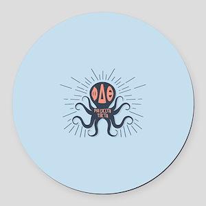 Phi Delta Theta Octopus Round Car Magnet
