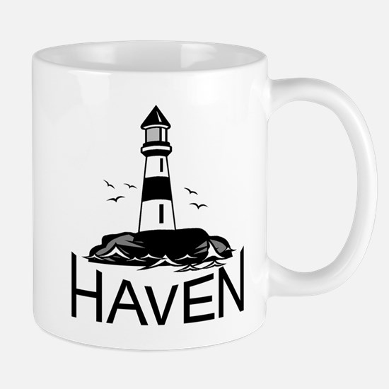 Unofficial Haven Logo White Mugs