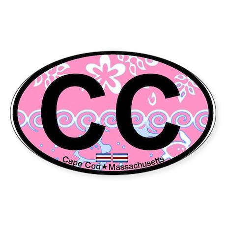 Cape Cod MA - Oval Design Sticker (Oval)