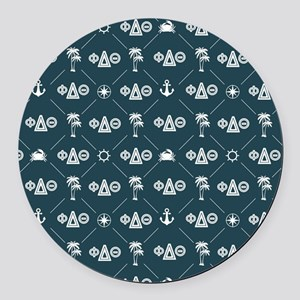 Phi Delta Theta Pattern Blue Round Car Magnet