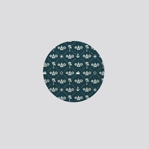 Phi Delta Theta Pattern Blue Mini Button