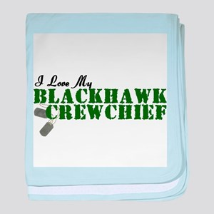 Love My Blackhawk baby blanket