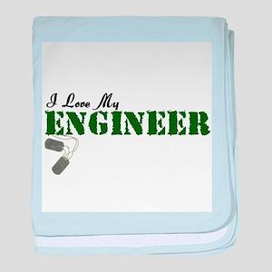 I Love My Engineer baby blanket