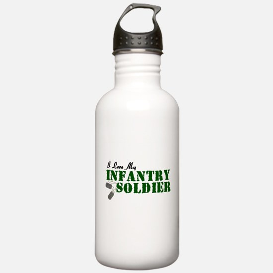 I Love My Infantry Soldier Water Bottle