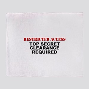Restricted Access Throw Blanket