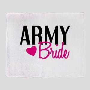 Army Bride Throw Blanket