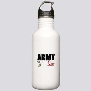 Army Son - Dog Tags Stainless Water Bottle 1.0L