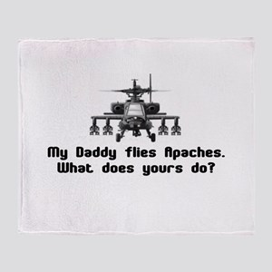Daddy Flies Apaches Throw Blanket