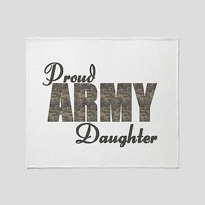 ACU Army Daughter Throw Blanket