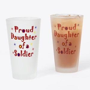 Proud Daughter Colorful Drinking Glass