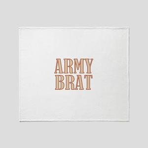 Army Brat Camo Throw Blanket