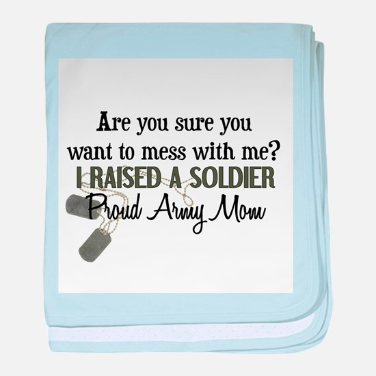Raised a Soldier - Mom baby blanket