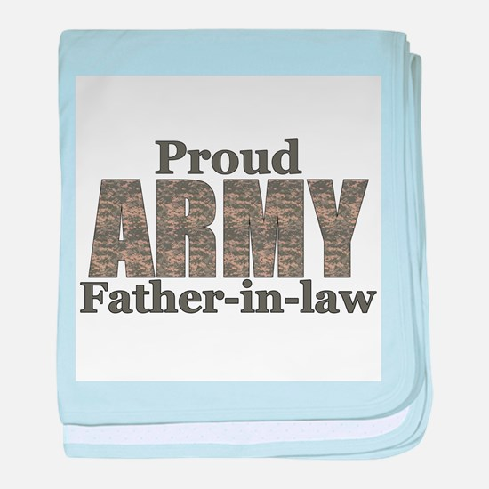 Proud Father-in-law (ACU) baby blanket