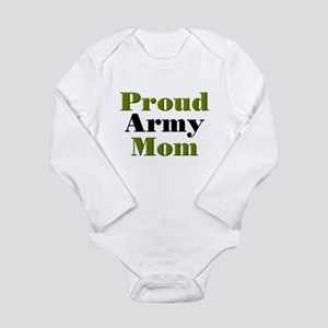 Proud Army Mom Long Sleeve Infant Bodysuit