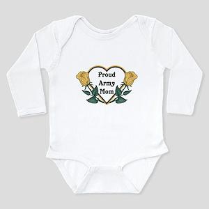 Yellow Rose - Army Mom Long Sleeve Infant Bodysuit