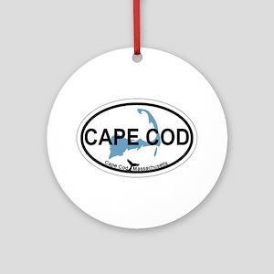 Cape Cod MA - Oval Design Ornament (Round)