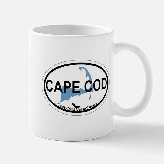 Cape Cod MA - Oval Design Mug