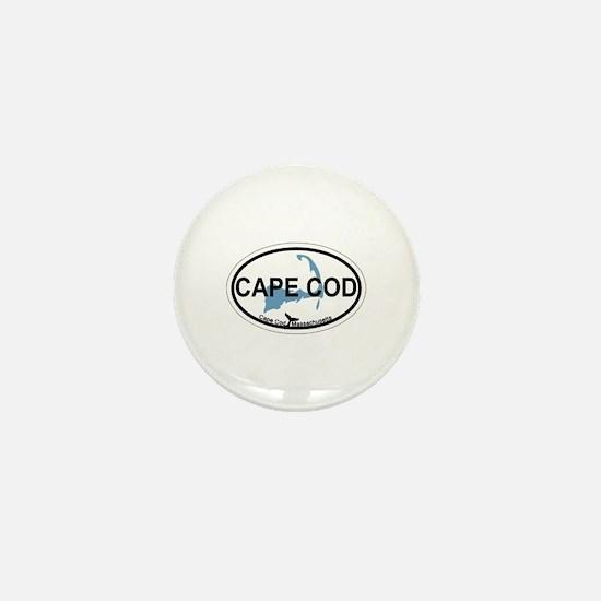 Cape Cod MA - Oval Design Mini Button