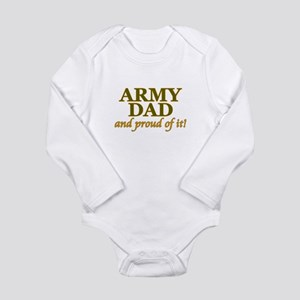 Army Dad and Proud Long Sleeve Infant Bodysuit