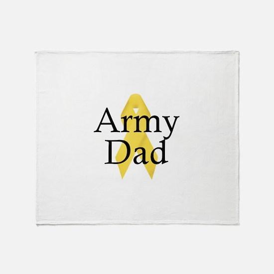 Army Dad Ribbon Throw Blanket