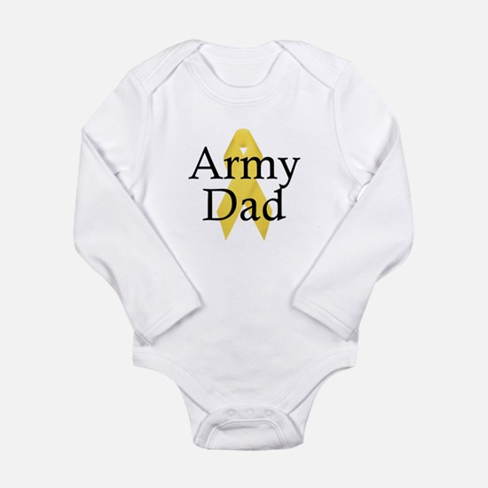 Army Dad Ribbon Long Sleeve Infant Bodysuit