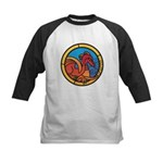 Medieval Stained Glass Dragon Baseball Jersey