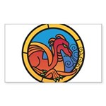 Medieval Stained Glass Dragon Sticker