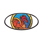Medieval Stained Glass Dragon Patch