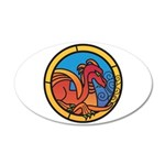 Medieval Stained Glass Dragon Wall Decal