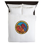 Medieval Stained Glass Dragon Queen Duvet