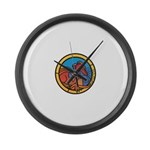 Medieval Stained Glass Dragon Large Wall Clock