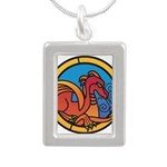 Medieval Stained Glass Dragon Necklaces