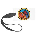 Medieval Stained Glass Dragon Luggage Tag