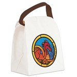 Medieval Stained Glass Dragon Canvas Lunch Bag