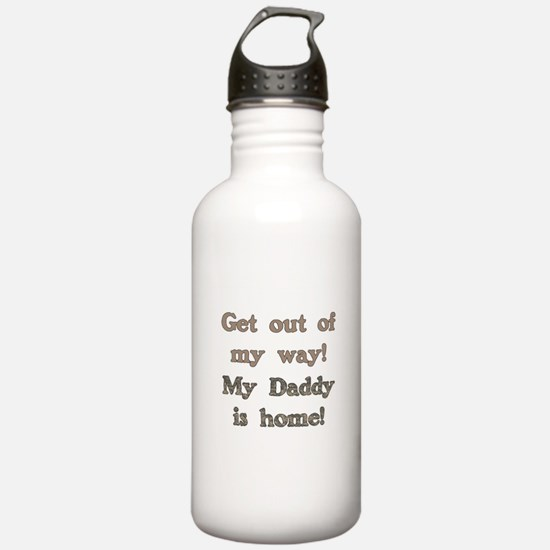 Cute Welcome home daddy Water Bottle