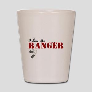 I Love My Ranger Shot Glass