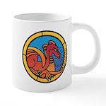 Medieval Stained Glass Dragon 20 oz Ceramic Mega M