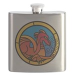 Medieval Stained Glass Dragon Flask