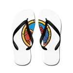 Medieval Stained Glass Dragon Flip Flops