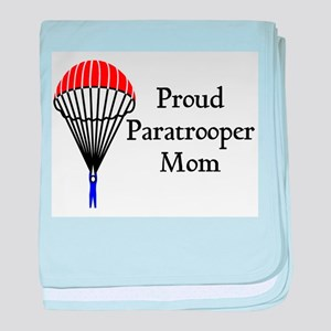 Proud Paratrooper Mom baby blanket
