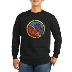 Medieval Stained Glass Dragon Long Sleeve T-Shirt