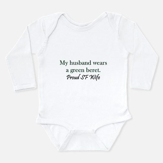 Green Beret - Wife Long Sleeve Infant Bodysuit